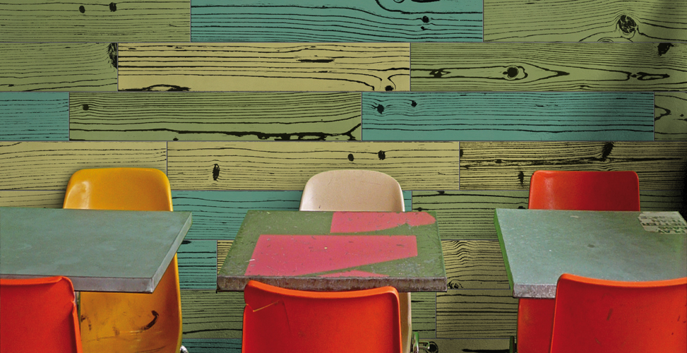 Uonuon by 14OraItaliana. UonUon is a glazed porcelain tile produced by Italian manufacturer, 14Oraitaliana. Drawing its inspiration from Andy Warhol's famous screened art, the uonuon collection features dynamic colors in a variety of wood patterns.