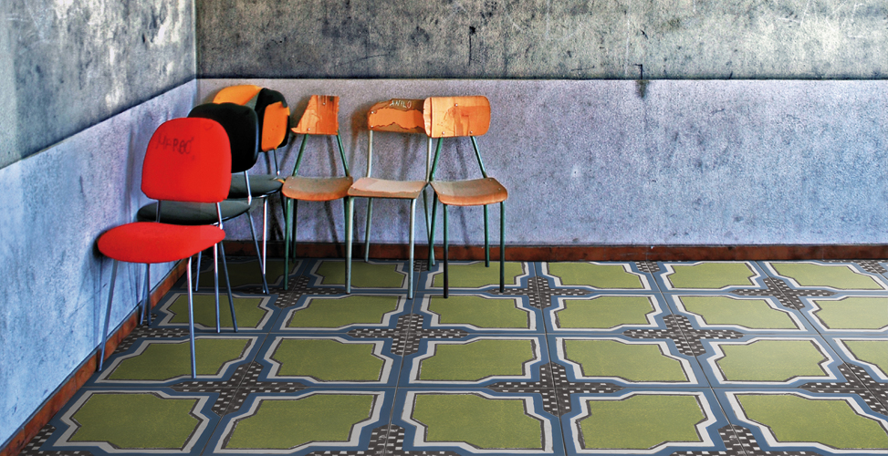 iGattipardi by 14OraItaliana. iGattipardi is a glazed porcelain tile series that takes its aesthetic cues from maiolica tiles found across southern Italy.