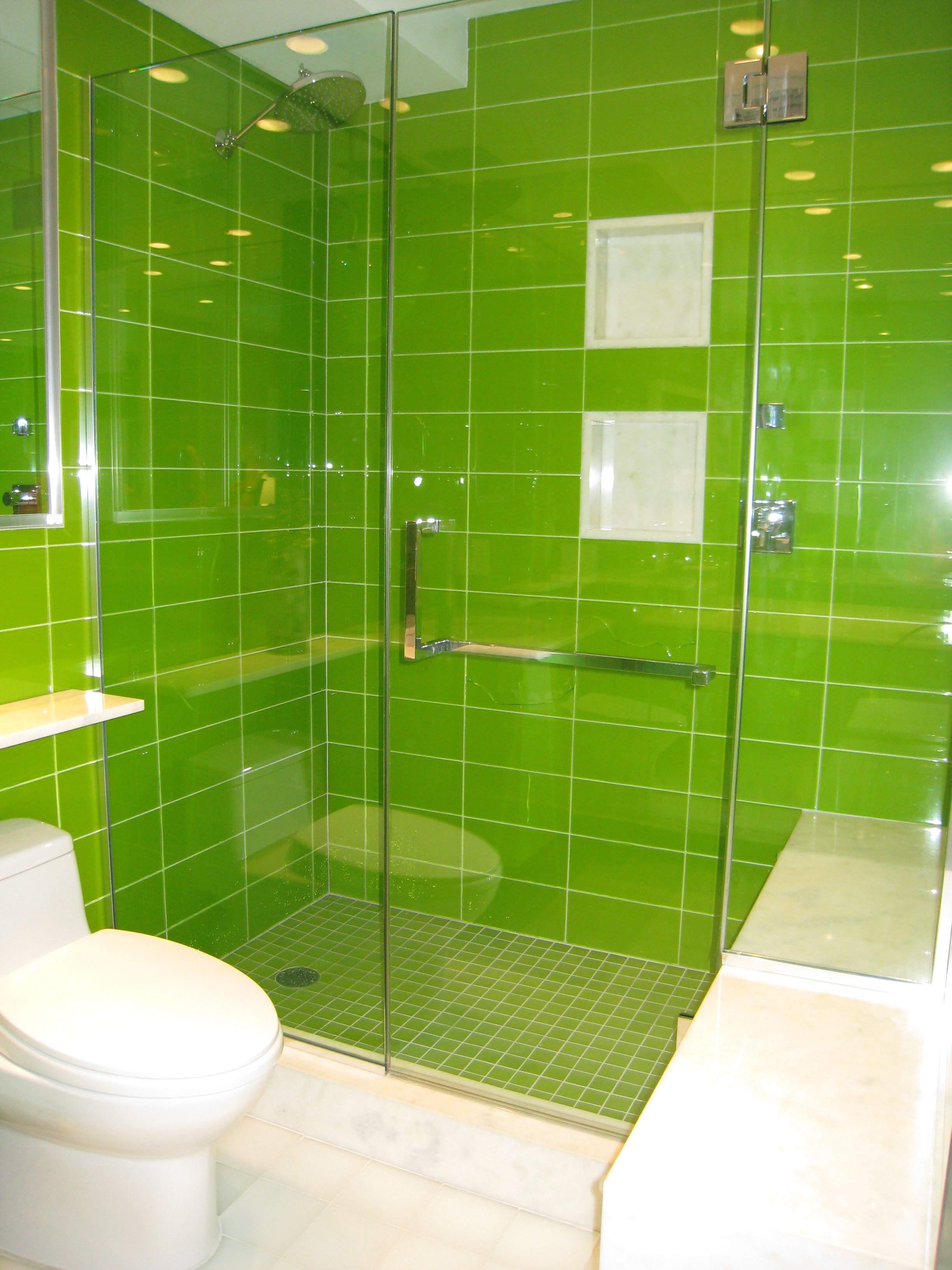 green and white tiles for bathroom firm celia berliner design product boca white glacier 25284