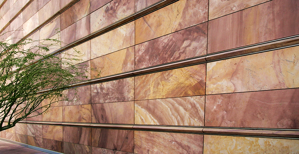 Quartzite is an incredibly hard metamorphic rock. This page covers the geology of quartzite, care and maintenance tips and examples of the material in application.