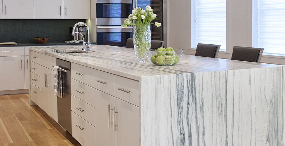 Kitchen Counter Marble mountain white danby marlbe kitchen countertops marblecom The Client Who Loves White Marble