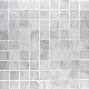 Bianco-Carrara-Honed-1.25-x-1.25-Marble-Mosaic1