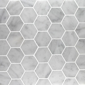 Bianco-Carrara-Honed-2-x-2-Hexagon-Marble-Mosaic1