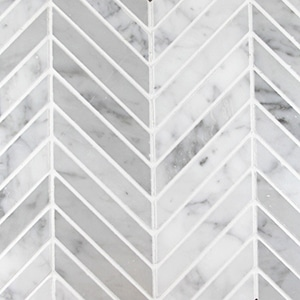 Bianco-Carrara-Honed-Chevron-Marble-Mosaic1