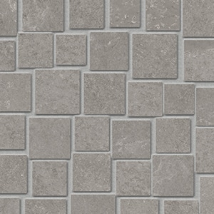 Groove - Bright Grey - Mosaico Penta - Porcelain Tile