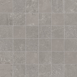 Groove - Bright Grey - Mosaico - Porcelain Tile