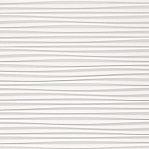 3D Wall Design - Flows White Matt 110 - Ceramic Tile